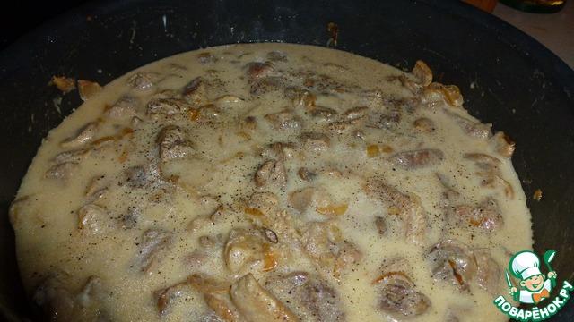 Грибы со свининой на сковороде рецепт