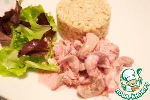 Рецепт Кроличьи языки, запеченные с сыром камамбер