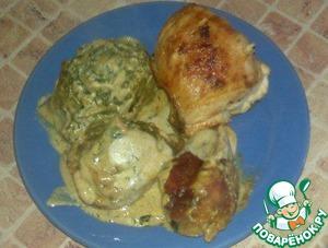 курица с тестом рецепт с фото