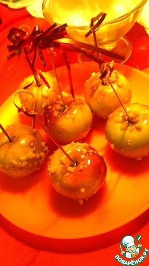 Рецепт Глазированные яблоки с орешками