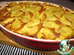 Рецепт Картофельная запеканка с сельдью
