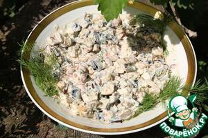 Рецепт Салат из печеных баклажанов с фетой