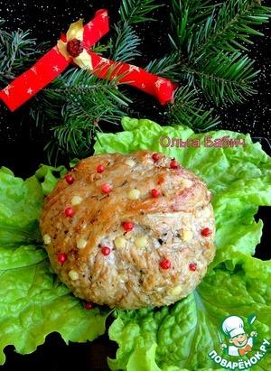 Рецепт Новогодний мясной шар