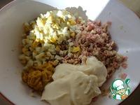 Помидоры с салатом из курицы ингредиенты