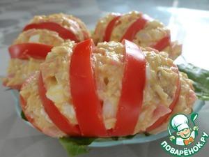 Рецепт Помидоры с салатом из курицы
