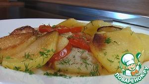 Как приготовить рецепт приготовления с фото Треска с картофелем и луком