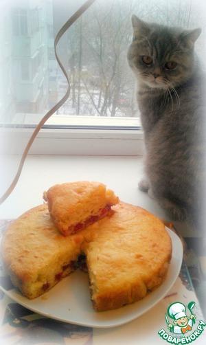 Рецепт Вкусный пирог с малиной