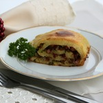 Мекленбургский картофельный рулет со шкварочками