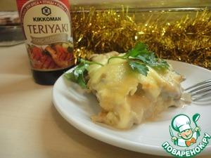 Рецепт Картофель под соусом с грибами