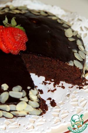 Рецепт Шоколадно-миндальный торт от Джулии Чайлд