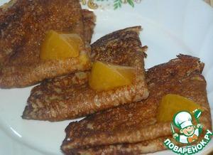 Рецепт Постные гречневые блины с апельсиновым джемом