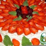 Клубнично-ежевичный торт