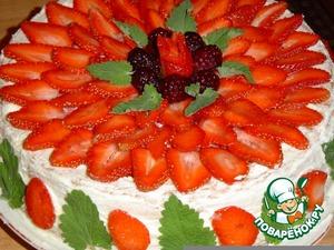 Рецепт Клубнично-ежевичный тортик