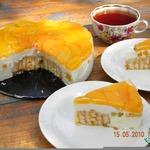 """Творожно-персиковый торт """"Нега"""""""