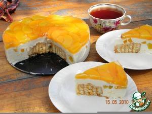 """Рецепт Творожно-персиковый торт """"Нега"""""""