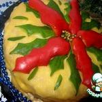 """Закусочный торт """"Рождественский цветок"""""""