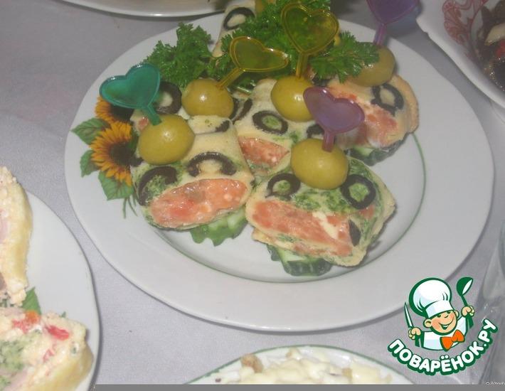 Рецепт: Закусочный рулет Тяп-ляп