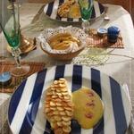 Тилапия под хрустящей картофельной чешуей с голландским соусом