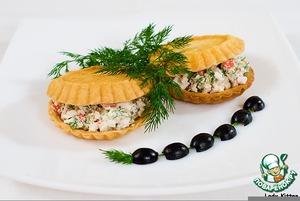 Рецепт Закуска с сыром и крабами