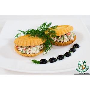 Закуска с сыром и крабами