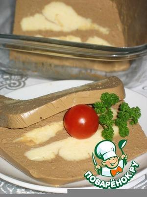 """Рецепт Паштет """"Нежность""""  с сыром"""