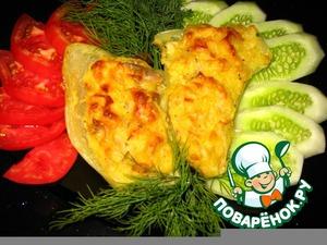 Рецепт Запечeнный сладкий перец фаршированный пикантным картофельно-куриным карри