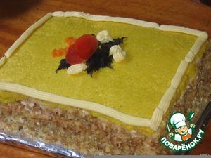 """Рецепт Закусочный торт"""" Сырные страсти"""""""