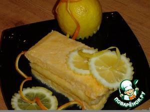 "Рецепт Замороженный десерт ""Лимонное семифредо"""