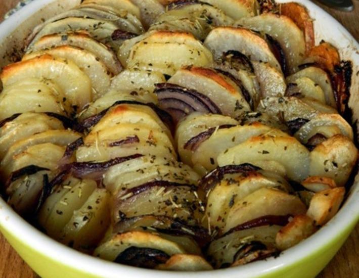Рецепт: Запеченный картофель Криспи гратин