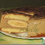 Сливочно-кофейный торт с бананами