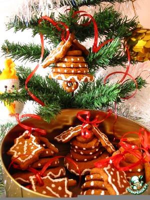 """Рецепт Имбирные печенье """"Колокольчики"""" или вкусные подарки-украшения на Новый год"""