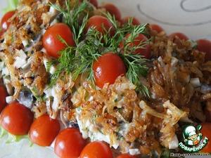 Рецепт Салат с шампиньонами и ветчиной