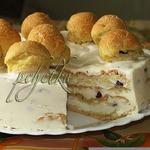 Сливочно-вишнeвый торт со вкусом эклеров