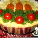 """Закусочный торт """"Пламя свечи"""""""