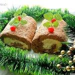 """Сырно-печеночный рулет """"Накануне Рождества"""""""