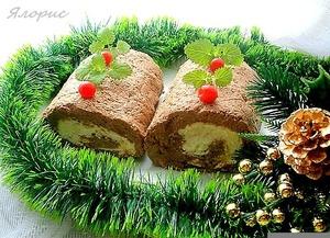 """Рецепт Сырно-печеночный рулет """"Накануне Рождества"""""""