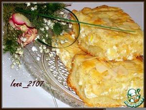 Рецепт Песочный пирог с творожно-яблочной начинкой