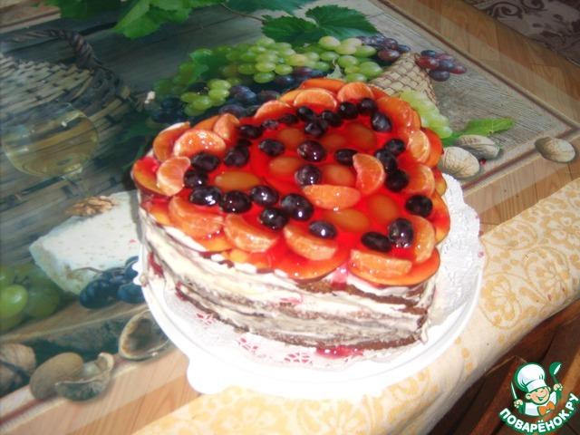 Торты шоколадно фруктовый