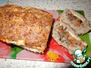 Рецепт Мясной кекс с грибами и сыром