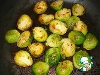 Тёплый салат из брюссельской капусты с курицей и пармезаном ингредиенты