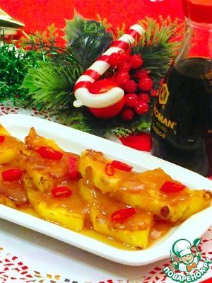 Рецепт Ананас в соленой карамели с чили