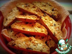 Рецепт Бискотти с арахисом и миксом сушеной вишни, смородины и клубники