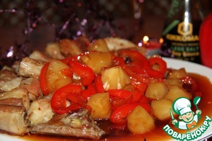 Рецепт Кисло-сладкие свиные ребра по-китайски