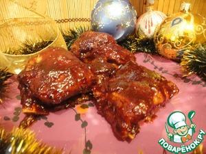 Рецепт Свиные ребрышки в глазури
