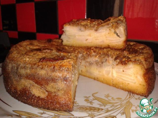 Наливной яблочный пирог рецепт с фото