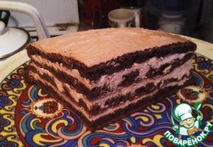 Рецепт Шоколадный торт с творожным кремом по Дюкану