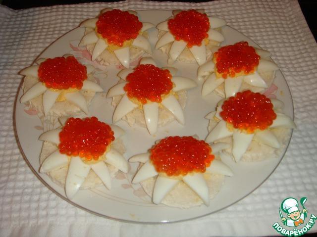 рецепты с красной икрой закуска #8