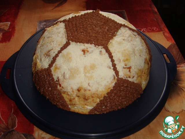 Торт мяч рецепт с пошагово