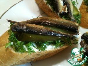 Рецепт Закуска-бутерброд под водочку