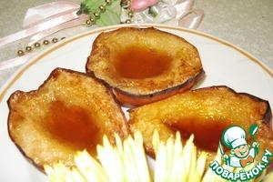 Рецепт Горячий десерт из груш с мёдом и корицей